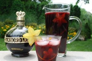 Ingredients  3 oz. Chambord  1 bottle of Merlot (We used Fetzer Merlot)  3 Tablespoons sugar  Juice of two oranges  Starfruit  Orange and lemon slices (Make zest with a channel knife and cut into 3 inch strips)  Club soda    Preparation  Add all ingredients into a pitcher filled with ice and let chilled.  Serve over the rocks with a splash of club soda. Garnish with star fruit and several zest strips