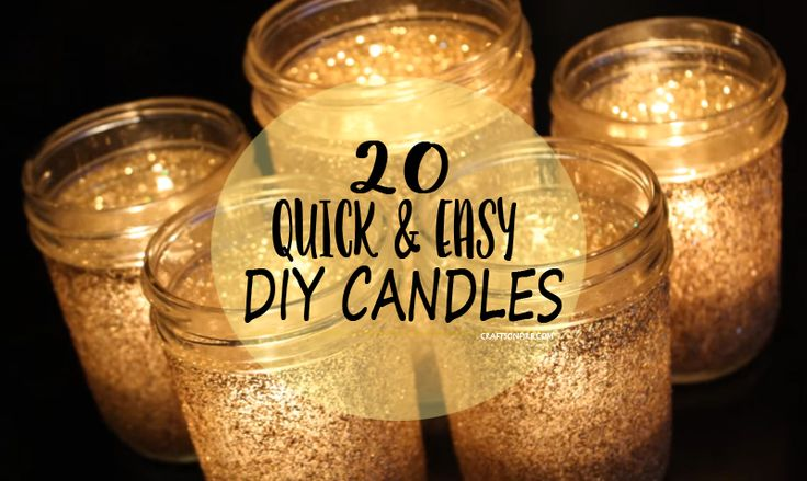 20 Quick And Easy Diy Candles Tutorials