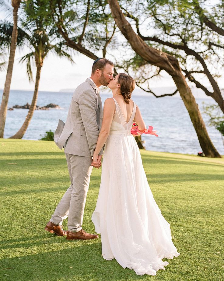 A Beachy, Bougainvillea-Filled Wedding In Maui, Hawaii