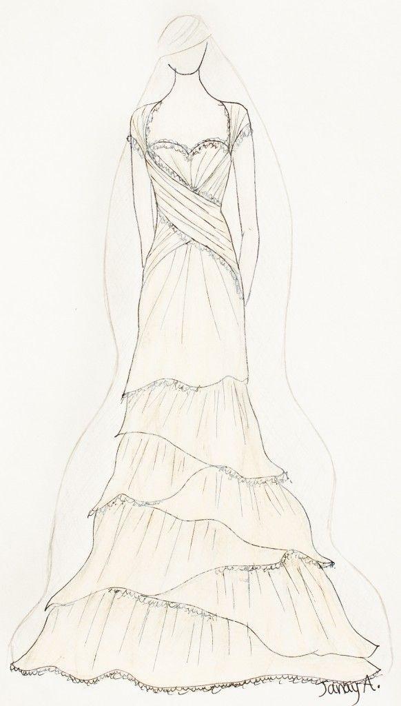 Janay A Handmade, Kansas City.  Mermaid Dress 2013 Collection of Eco Wedding Dresses.