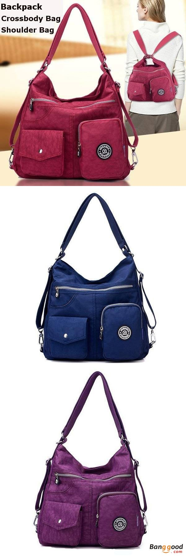 US$27.99 + Free shipping. Women bag, nylon waterproof crossbody bags, casual outdoor light backpack shoulder bags. Material: Nylon, Color: Black, Blue, Sea Blue, Sky Blue, Burgundy, Purple, Green, Rose Red, Beige etc. 11 Colors to Match Your Style.