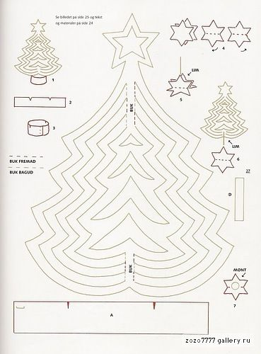 present for christmas: paper christmas tree tutorial - crafts ideas - crafts for kids