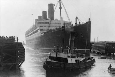 HMHS Aquitania May15 Liverpool 1914