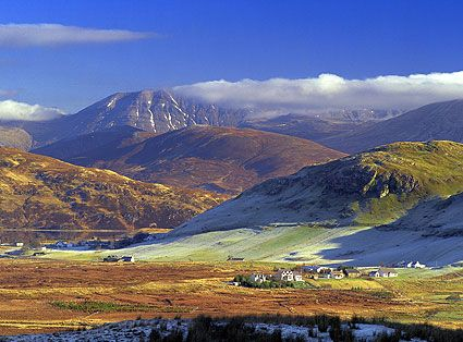 Elphin & Ben More Assynt  Visit www.exploreuktravel.co.uk for holidays in Scotland