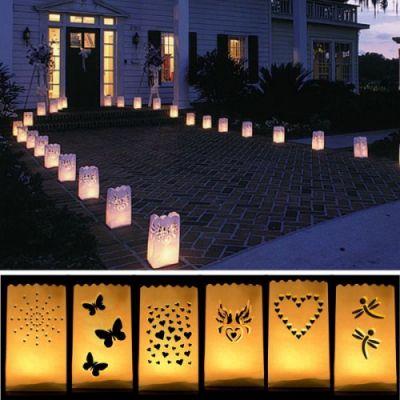 Piękny stojący lampion papierowy Ślub Wesele flamingi.pl - dekoracje do Twojego domu