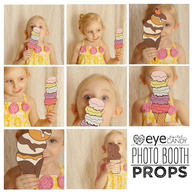 Photo Booth Prop Ideas: PROP COLLECTION ICE CREAM
