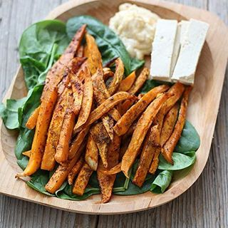 "I wasn't a big fan of sweet potatoes until I tried this recipe! Love sweet potato fries! ❤❤❤ . Search "" sweet potato"" on www.gourmandelle.com for the recipe. . Want to eat recipes like this? Check out my meal planner app! Link on profile! ➡➡➡ www.Gourmandelle.com/custom-meal-plans . . . . #vegancomfortfood #veganeats #sweetpotatofries #yams #sweetpotato #healthyvegan #sweetpotatoes #veganrecipe #veganrecipes #plantbasedpower #plantbaseddiet #veganfoodlovers #vegetarianrecipes #comfortfoods…"