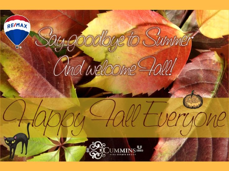 Happy First Day of Fall!! Cummins Real Estate Group is ready for the Fall season, are you? Let us take the stress out of buying and selling your home this fall, while you take the time to plan a thanksgiving dinner to remember! The market is holding strong, with historically low interest rates with Prime Rate being 3.20% and lot's of consumer demand. Its the perfect time to sell and buy your dream home.  Call us today for a free market evaluation, and be sure to check out Michele's latest…