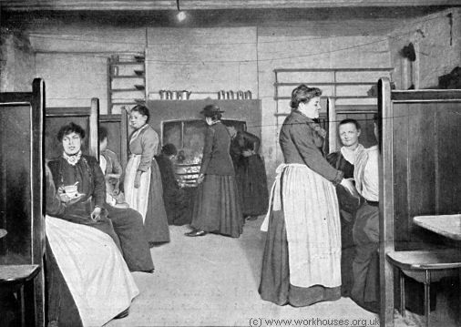 Single-women's lodging house in Spitalfields, c.1900.
