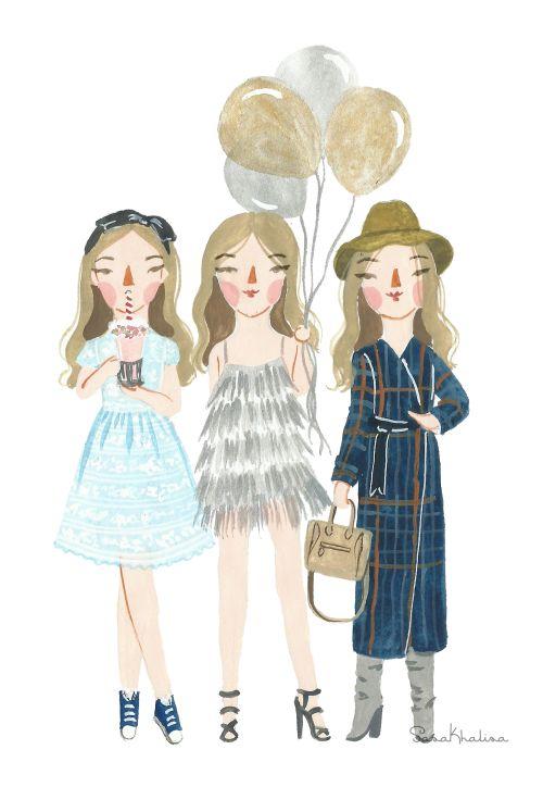 Fashion Illustration of honestlykate by Sasa Khalisa