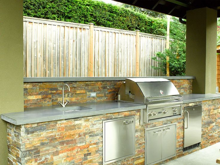 Outdoor Concrete Kitchen Counter | 18 Astounding Concrete Countertops  Outdoor Kitchen Picture Ideas ... | House | Pinterest | Kitchen Pictures,  Concrete ...