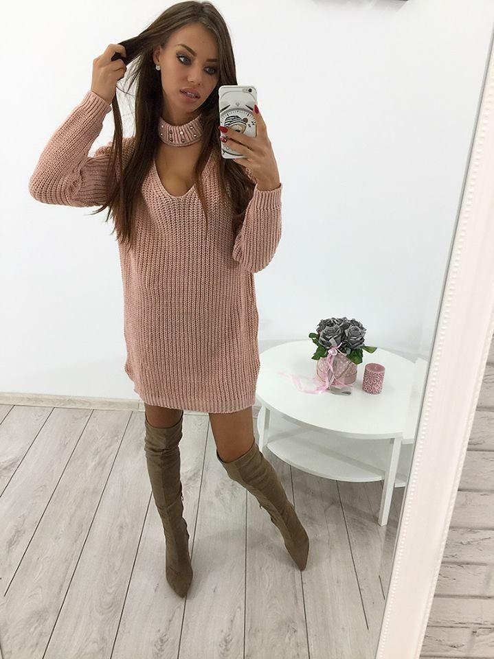 ❣️ NOWA KOLEKCJA ❣️ Śliczny sweter z chokerem 💕 Już niedługo w sprzedaży na ➡️www.cosmosmoda.pl⬅️ Zamów już teraz w wiadomości na FB lub telefonicznie 691 381 170 Stylistka Sara <3