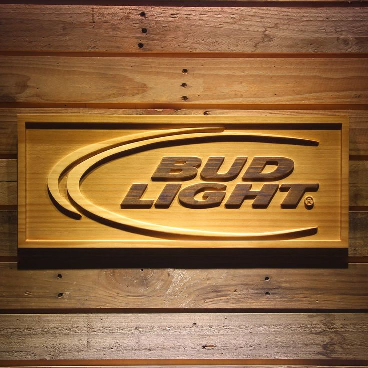 BUD LIGHT Beer 3D Wooden Sign in 2020 | Wooden signs, Bud ...