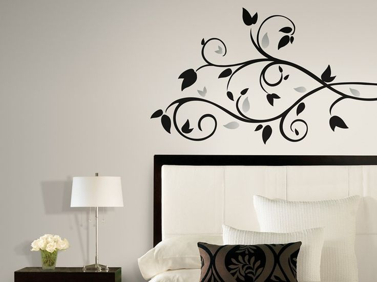 Wallpaper Inn Store - Black Scroll Branch Wall Decals with Foil Leaves, R229,95 (http://shop.wallpaperinn.co.za/black-scroll-branch-wall-decals-with-foil-leaves/)