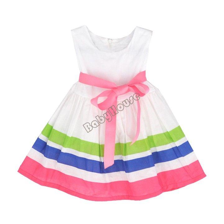 Зазор цена Summer Girl Паффи платье Радуга полосатом платье Детская одежда Танцы одежда Принцесса Балетная Пачка Платье 41