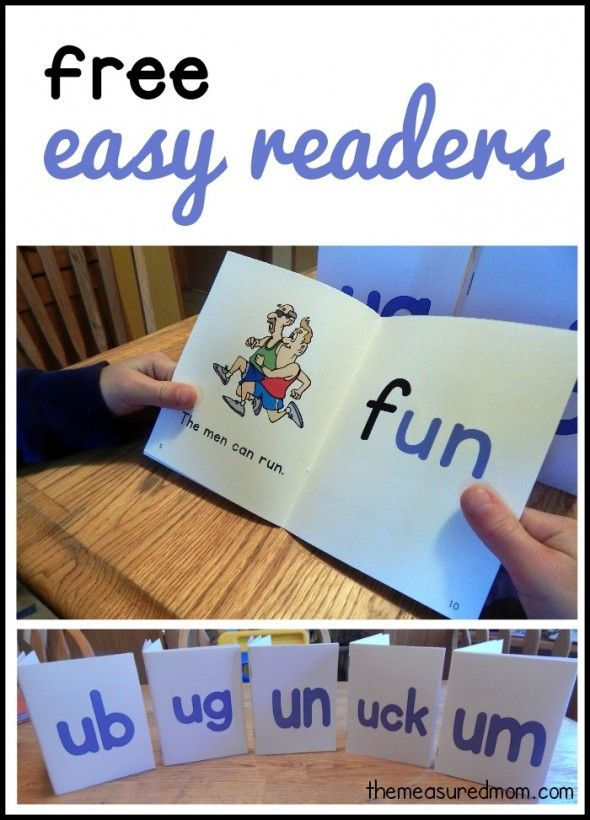Free easy readers for short u word families. Simple phonics books for new readers.