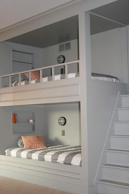 bunk beds, very cool for a child's room.