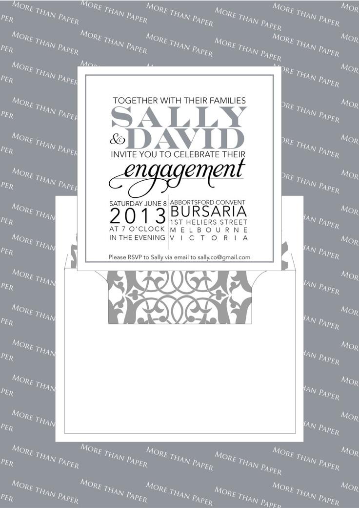 Moderno Classic Engagement Invitation - Sample. $5.00, via Etsy.
