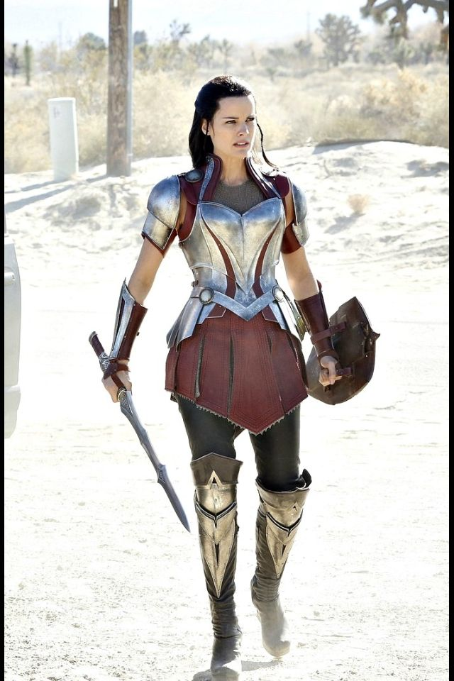 Sif. Still saying 'why doesn't her breastplate protect her clavicle region as the males' do', plus 'Heels? Seriously, wtf??'. But the rest is pretty awesome :)