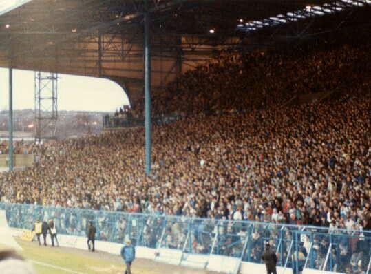 Hillsborough, Sheffield Wed in the 1980s.