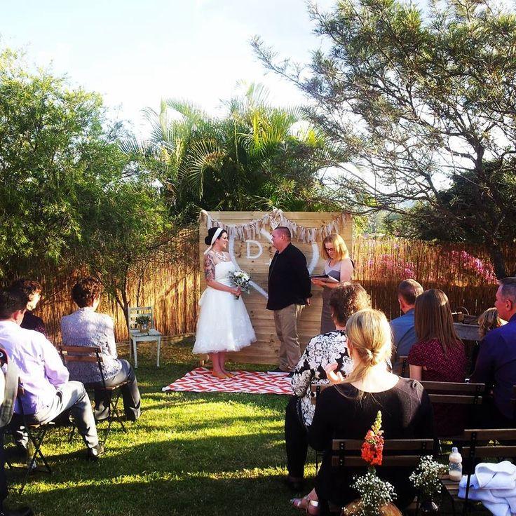 Qld backyard wedding