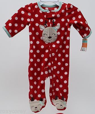0391905e79 Outfits and Sets 163427  Christmas Carter S Green Reindeer Footed Blanket  Sleeper Size 3 Months Nwt -  BUY IT NOW ONLY   18.49 on  eBay  outfits   christmas ...