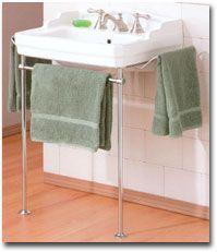 "Essex Console Bathroom Sink from Shop 4 Classics 24"" wide x 18"" deep x 32 3/32"" high. $730"