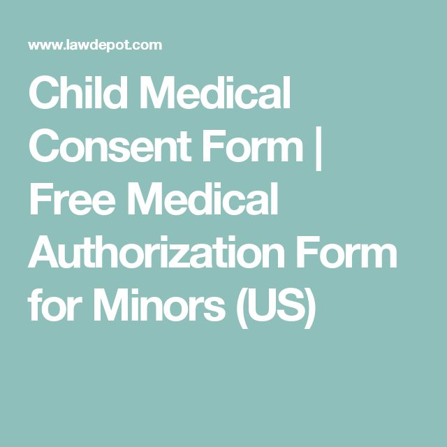 Child Medical Consent Form | Free Medical Authorization Form for Minors (US)