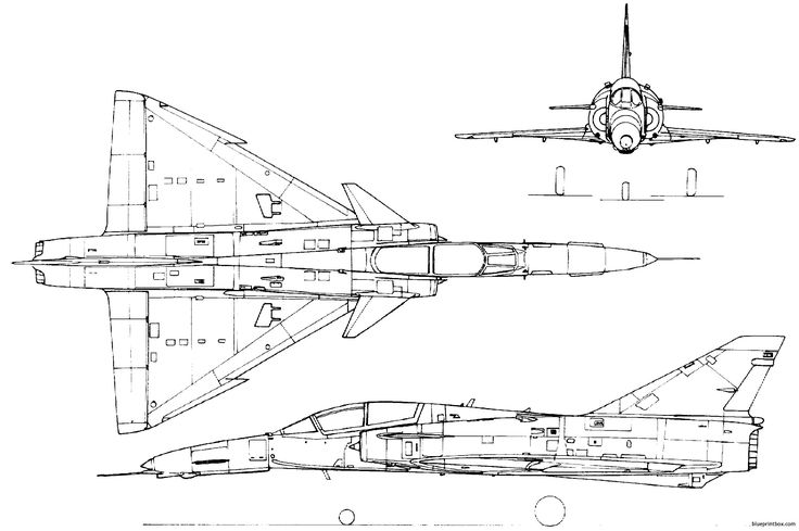 dassault mirage iii 2 - BlueprintBox.com - Free Plans and Blueprints of Cars, Trailers, Ships, Airplanes, Jets, Scifi and more...