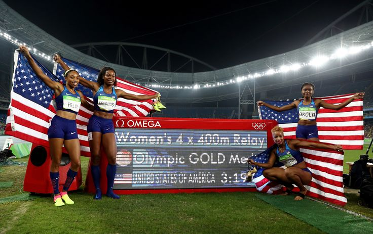 Team USA (Allyson Felix, Phyllis Francis, Natasha Hastings