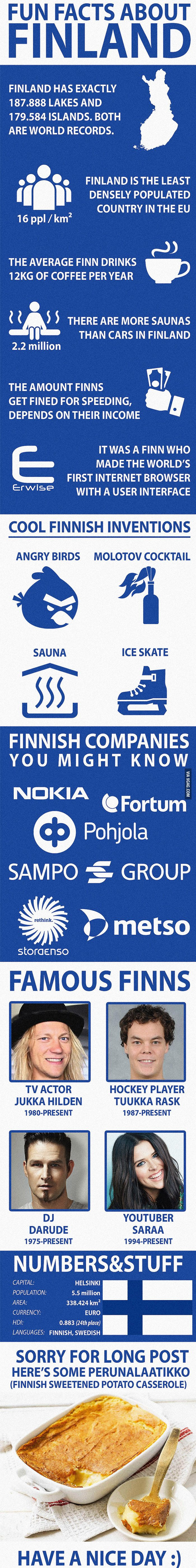 Fun Facts about Finland