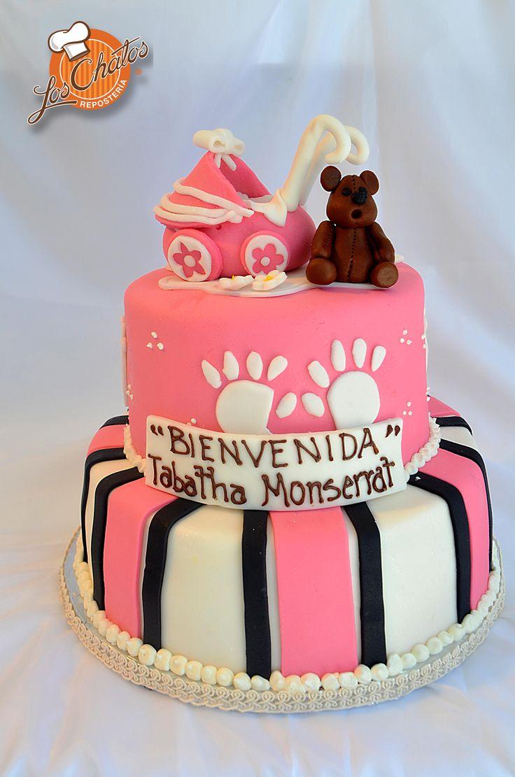 Pastel Baby Shower #loschatos #niña #babyshower #cake