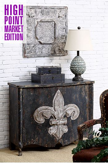 Wooden Cabinet With Fleur De Lis Cious Pinterest Decor Home And Furniture
