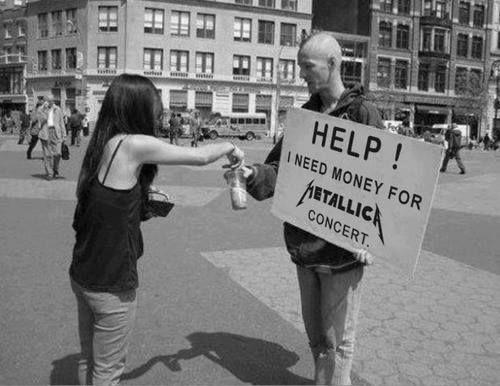 Money for metallica concert