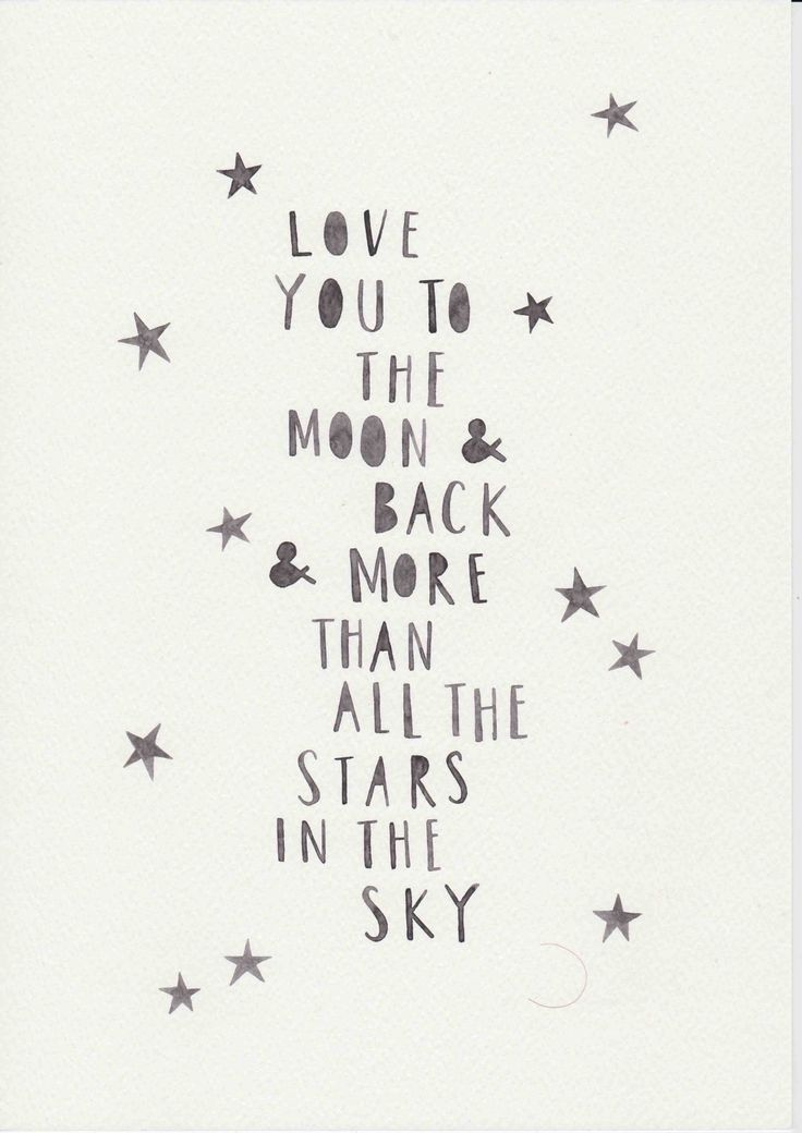 "Love Quote- ""I love you to the moon and back""  {Courtesy of Etsy}"