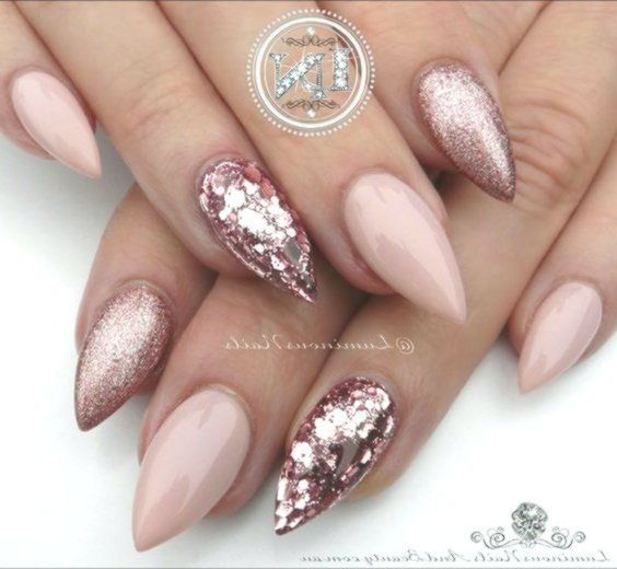 Sparkly Acrylic Nails Simple Winter is coming and I have put together 37 ideas f…