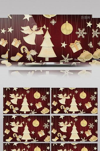 Cartoon Christmas Theme Angel Snowflakes Pull Line Background HD