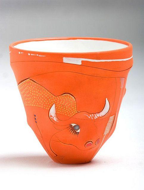Imiso Ceramics - Africasso Fat Conical Vase