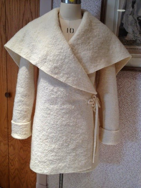 An easy to make boiled wool coat pattern from Sew News.                                                                                                                                                                                 More
