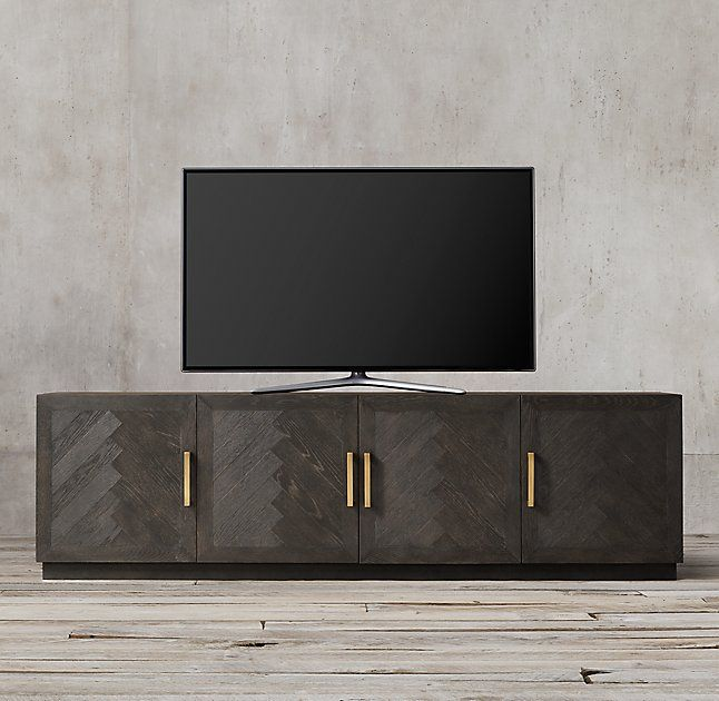 Herringbone 4-Door Media Console