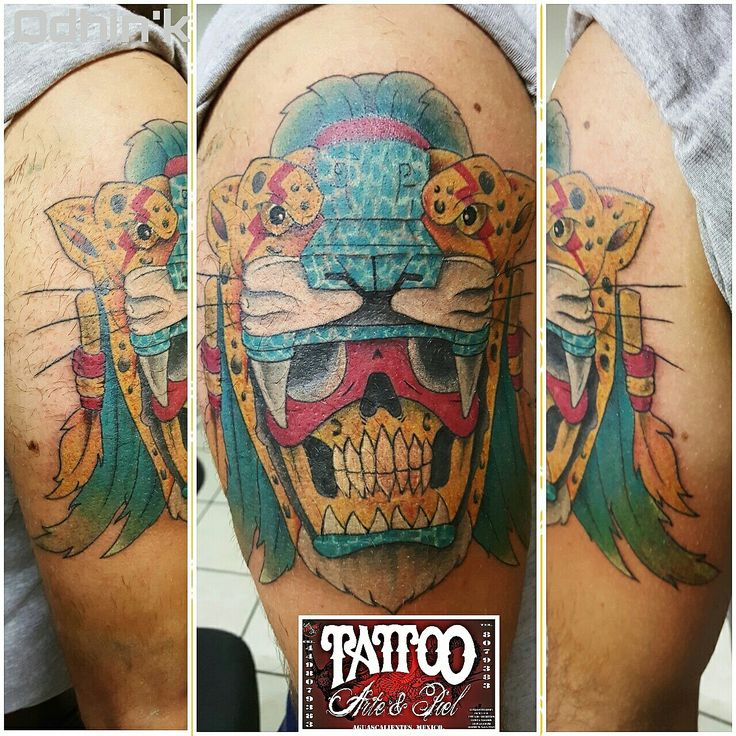 2da sesion ......  #guerrerojaguar #guerrero #jaguar #color #tattooarteypiel #tatuajes #artisticos #tattooart #tattooink #tattooist #leviathoth #odhin #odhink #isaaccelis #aguascalientes #mexico #neekdnaprotec