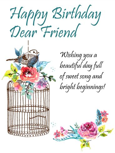 195 best birthday cards for friends images on pinterest send free to the sweetest friend happy birthday card to loved ones on birthday greeting cards by davia its free and you also can use your own m4hsunfo