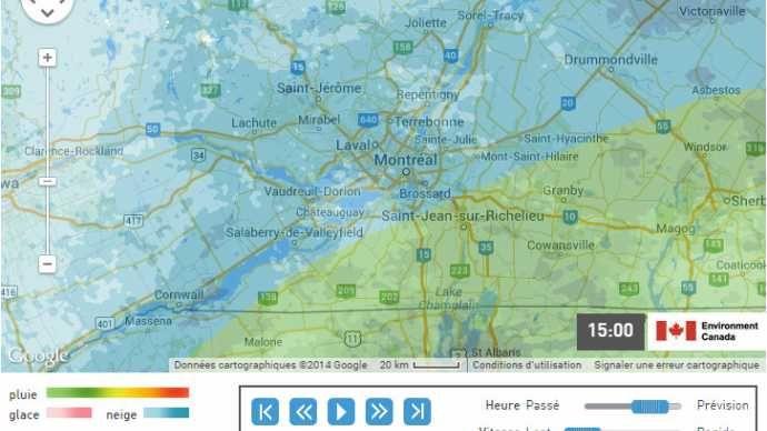 Nouvelles - Une carte radar pour suivre les précipitations en tout temps - MétéoMédia