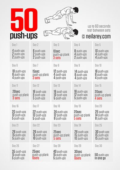 50 Push Ups Challenge - Small daily goals that add up to great benefits!