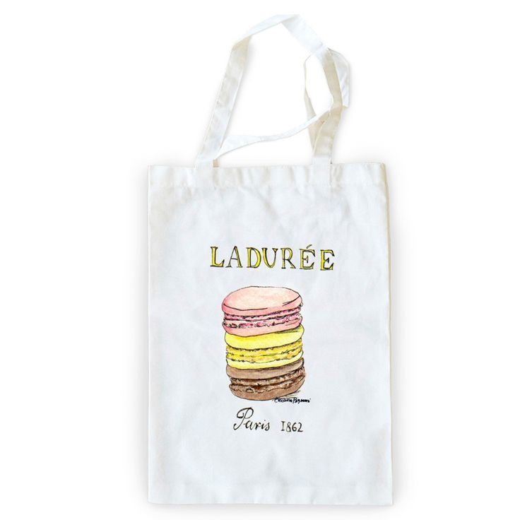 Laduree Illustration - Tote Bag by CasaBignami  - CasaBignami, Visualtroop