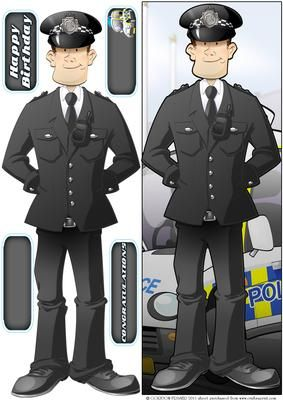 Police Officer Dude Passing Out Parade Large DL on Craftsuprint designed by Gordon Fraser - Police Officer Dude proudly passes out on parade! Easy to make large vertical DL design with decoupage, sentiment and blank tiles. More versions of this Dude are available. Don't forget to check out my other Dudes and illustrations, just click on my name to see them all! - Now available for download!