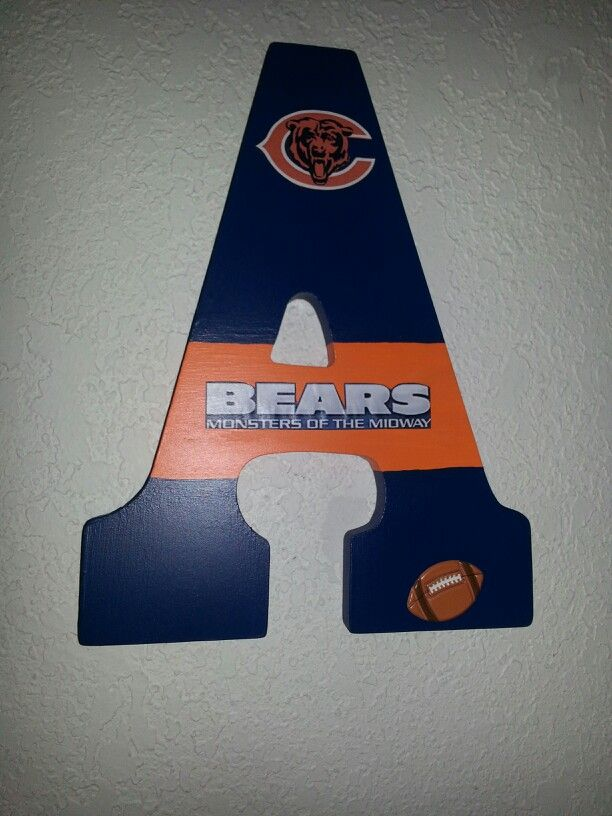 Hanging initial.  Chicago Bears