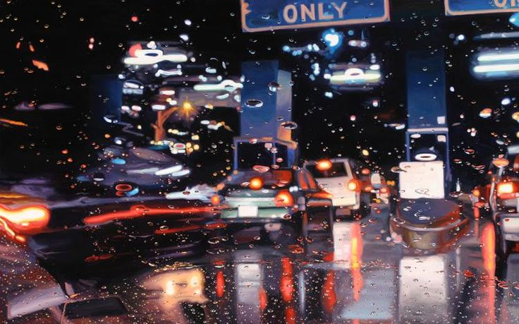 Painting in the rain by Gregory Thielker
