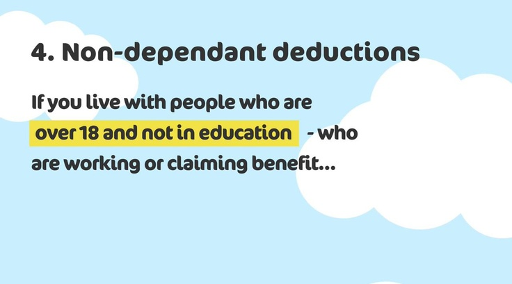 If you live with people who are over 18 and not in education - who are working or claiming benefit - you could be affected To find out more, visit http://www.k-h-t.org/main.cfm?type=WELFAREREFORM