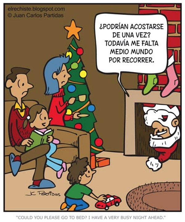 El duro trabajo de Papa Noel